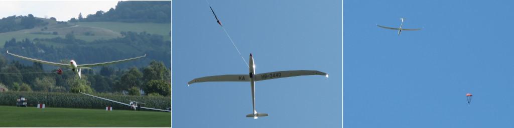 Ein Windenstart in drei Phasen